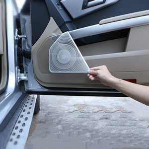 سيارة باب رئيس غطاء صافي Deecoration ملصق تريم لمرسيدس بنز GLK 2008-15 سبائك الألومنيوم مكبر الصوت لوحة الشارات