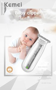 Kemei 1318 Baby quiet professional hair clippers USB Rechargeable Electric Shaver Kids Haircut Beard Razor for Men safty