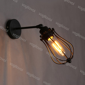 Wall Lamp Grapefruit Style Industrial Loft American Village Black Iron E27 For Indoor Cafe Restaurant Balcony DHL