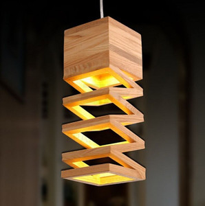 Moderna Nordic lampade Retro luci a sospensione in legno della lampada Ristorante Bar Caffè Dining LED Camera Hanging Lamp dispositivo domestico MYY legno