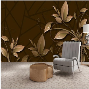 Photo new 3d wallpapers Vintage nostalgic grass vine plant floral wallpapers background wall decoration painting