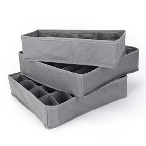 New 3pcs lot 3 In 1 Bamboo Storage Box Container Drawer Divider Lidded Closet Boxes For Ties Socks Bra Underwear Organizer Hot Y200628
