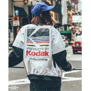 Mulheres Homens baseball roupa outerwear estilo japonês bomber jacket Harajuku piloto Harajuku rua impressão Jacket tamanho asiático