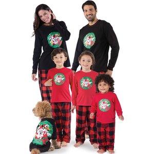 Coincidencia de Navidad de la familia pijamas fijaron a las mujeres ropa de dormir ropa de dormir de los niños del bebé