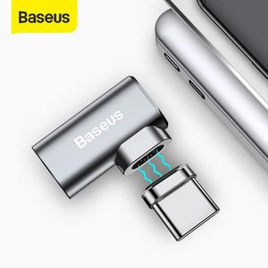 Baseus 86W Magnetic USB C-Adapter für MacBook Pro 15 Zoll 6 Pins Elbow USB Typ C Ladebuchse für Samsung USB-Adapter