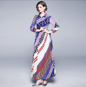 2020UU summer designer evening gown lapel long sleeve mop formal evening gown casual family luxurious high quality fabric long sleeve dress