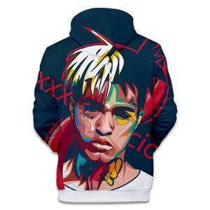 Mode-Herrenbekleidung XXXTentacion Gedenk Sweatshirt Winter Warme Fleece Hoodies Fotos 3D Druck Lose Pullover Kostenloser Versand