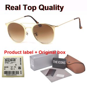 Del progettista di marca degli occhiali da sole delle donne degli uomini rotonda di vetro di Sun oculos lunette de Soleil Femme de sol maschile occhiali da sol mujer con i casi di vendita al dettaglio