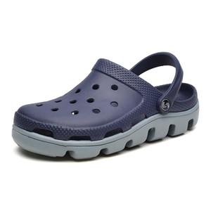 2019 zapatos de diapositivas verano de los hombres zapatillas para hombre en la playa Slipers moda Croc Hombre Calzado Chanclas EVA Flip Flop Hombres Sandali Donna