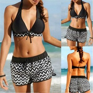 Women's New Arrival Bikini Women Tankini Sets Two Piece Bikini Sets With Surfing Short Boy Shorts Swimwear Bathing Suit Bikinis