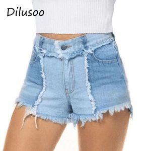 Dilusoo 2020 летние женские джинсовые шорты узкие кисточки узкие джинсы шорты Женские джинсы брюки Женские повседневные короткие брюки
