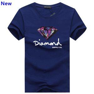 Fashion t shirt diamond men women Clothing 2018 Casual short sleeve tshirt men Summer tee shirts J02