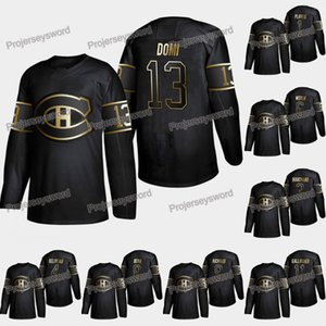 Montreal Canadiens Max Domi 2019 Edizione Oro Jersey Shea Weber Jean Beliveau Guy Lapointe Howie Morenz Jordie Benn Brendan Gallagher