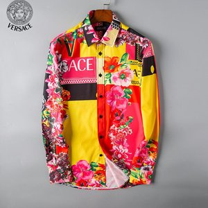 2019 automne et hiver hommes chemise à manches longues robe pure casual shirt mode pour hommes Oxford chemise marque sociale vêtements # 613 chemises pour hommes