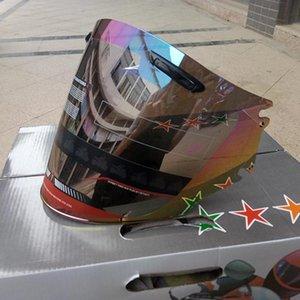 Moto medio casco visera de ajuste para arai motos cascos lente transparente negro arco iris de color elegir