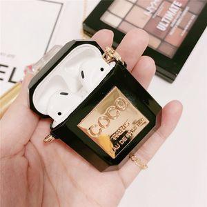 Delicado perfume de lujo Botella diseñador caso de los anti-perdió la hebilla para Apple Airpods Pro 1/2 cubierta de TPU de silicona suave con el paquete al por menor