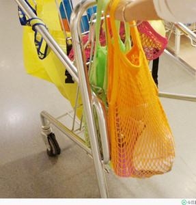 حقيبة تسوق خضراء قابلة لإعادة الاستخدام ، تسوق بسلسلة Grocery Shopper ، حمل من القطن الصافي على شكل حقيبة