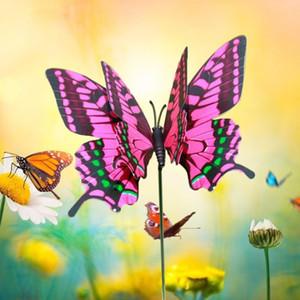 Kazık Bahçeli 4 adet Renkli Kelebek Stakes 3D Kelebek Saksılar Dekorasyon Ev geliştirme Açık Dekor Malzemeleri