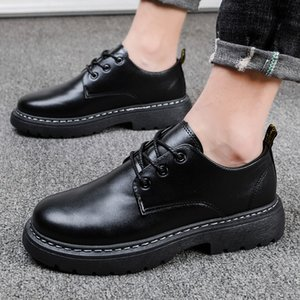 Autumn Winter Men Boots Retro Shoes Male Casual Leather Shoes Increase High Quality Footwears Sneakers Bota Masculina
