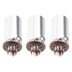 3x 9Pin Vakuum-Röhrenfassung W / Aluminium für 12AX7