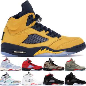 5  5s Asas internacionais Shoes vôo Mens Basketball Olímpico Medalha de Ouro Vermelho Azul Suede OG Metallic Preto tênis homens de esportes de designer 40-47