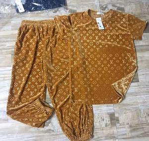 женщины из двух частей комплект осенняя куртка топы + полосатые брюки кофты новый lOuis vUitton Gucci женский спортивный костюм