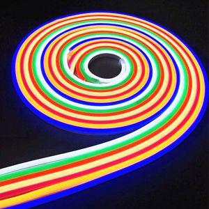 LED Bande 12 V Étanche 2835SMD Ruban LED Neon Light IP65 blanc / Blanc Chaud / Rouge / Vert / Bleu / Rose / Jaune Led Bande Lumière