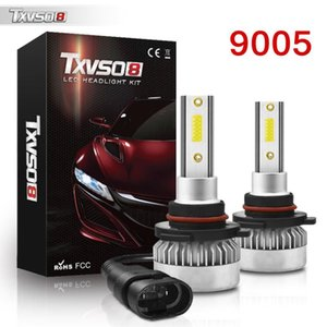 1pair Super Bright LED 110W 9005 HB3 Auto S2 Car Headlight Bulbs 72W 8000LM Car Accessories 6500K Led Fog Light