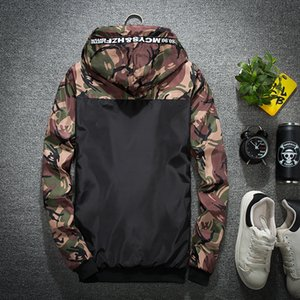 2018 Spring New Style Korean-style Fashion Camouflage Floral Jacket Casual Hooded Large Size Coat