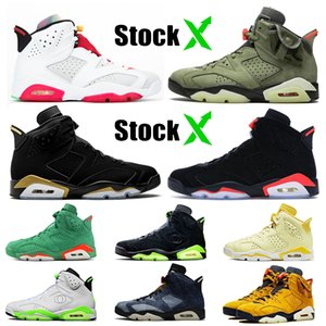 Hot Selling Jumpman 6 stock x womens mens basketball shoes 6s Travis Scott DMP 2020 Black Infrared Hare high quality designer sneakers
