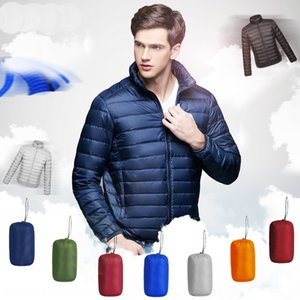 Light down coat down jacket jacket men's short stand collar large size long sleeve coat PH009