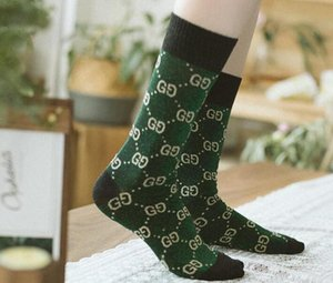 Hot autumn new candy color letter pile heap female socks fashion trend multicolor wild cotton socks