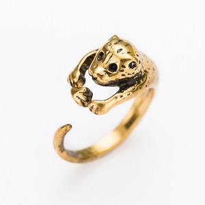Animal Leopard Ring black Jaguar Sport Dots Joyas de moda para mujeres