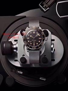 Omega New Diver 300M 007 James Bond No Time to Die limitierte 210.90.42.20.01.001 42MM Schwarz Automatik Herren-Uhr-Mesh-Bügel-Uhr-Dial