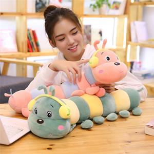 Bunte Caterpillar-Kissen-Plüsch-Spielzeug Große Puppe Pressen Puppe Geburtstags-Geschenk Mädchen