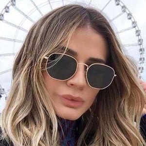 Vintage Hexagonal Sunglasses Women Men Designer Sun Glasses Brand Eyeglasses for Ladies UV400 3548 with cases boxes