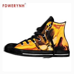 Uomini a piedi scarpe di tela Mercyful Fate Melissa'83 King Diamond morte Thrash Metal Nero misura Colore Lace-up scarpe Svaghi