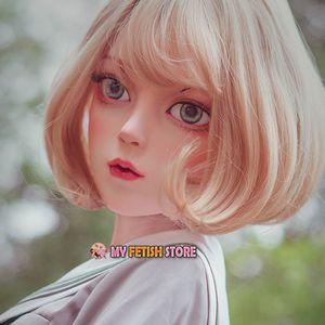 (Dollkii R5) Feminino Sweet Girl Resina Metade de Cabeça kigurumi BJD Olhos Crossdress Cosplay Anime japonês Papel Lolita Máscara Crossdresser T200519