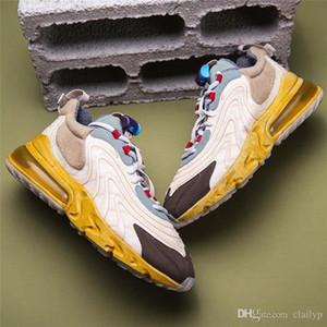 2020 Lançamento Travis Scott X 270 Reagir Running Shoes autênticos das mulheres dos homens Designer Calçados 270S Trainers Maxs Zapatos