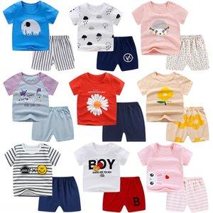 eCElh Children Cotton t-shirt shorts short sleeved shorts suit men women children's ALL-COTTON T-SHIRT children's two-piece baby short-sleev