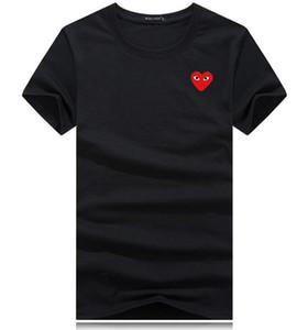 mens designers de camisetas Commes luxo com o esporte do coração camisetas des Garcons Branca T-shirt JOGO Pablo CDG para o verão Vetements T topos