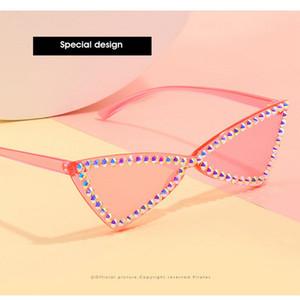 Mode Kristall-Diamant-Ne-Straße Schuss Sunglass 2020 neue Retro- Sonnenbrille Fashion Street Tor-Platz mit großem Rahmen-Männer und Frauen Culos Gylka F