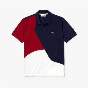 موضة اللون مطابقة أعلى العلامة التجارية لعبة البولو t قميص قصير كم بولو الفاخرة الأساسي الأعلى الشارع الشهير تيز الساخن بيع