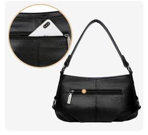 Designer-Realer Sacs à bandoulière pour les femmes en cuir véritable Ladies Messenger Bag Mode solides Designs Bonne qualité Bleu Noir Vert Violet