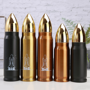 Bullet Flask Water Bottle Botella termo de acero inoxidable 350ml y 500ml Vacío de doble pared Taza aislada Té Café Bullet Flask