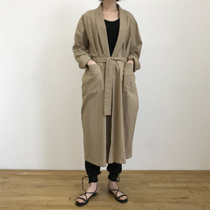 Alien Kitty Minimalism Casual Long Trench 2019 Autumn Loose Solid Office Lady Elegant Cardigans Tops Female All Match Coats