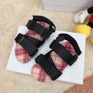 Designer Kids Shoes vintage Toddler Summer Sandal Children Soft breathable Comfortable Baby Boys Girls Kid Beach Shoes black Red strip03ce#