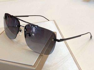 Männer Schwarz / Grau Quadrat Sonnenbrille Halbbild 1067 / F / S 61 MM Luxus Designer Sonnenbrille Shades UV400