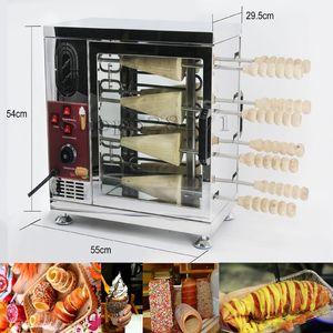 Cheminée gâteau rouleau machine automatique rôti Pain Rouleau machine électrique cheminée gâteau four pour vente gaufre cône maker
