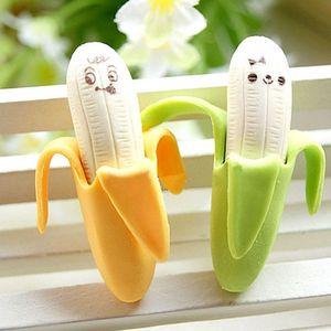 바나나 stlye의 eraster 귀여운 참신 한국어 창의적인 문구 모방 학생 선물을 학교 용품을 지우개